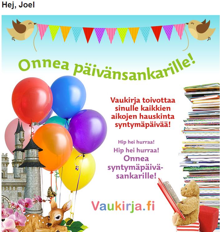 grattis på födelsedagen på finska Grattis Joel | JoS blog grattis på födelsedagen på finska
